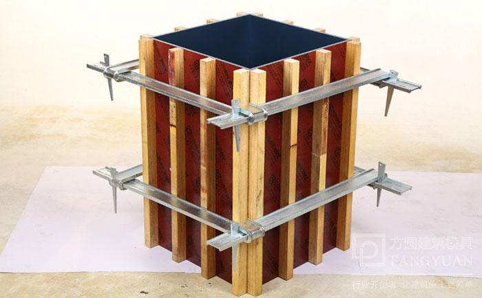 新型方圆方柱扣加固施工效果