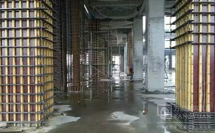 方柱卡具脱模后方柱体成型