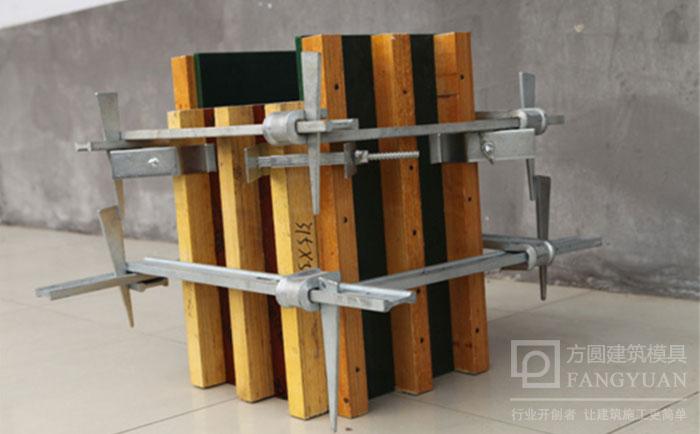 建筑方柱扣支设成型